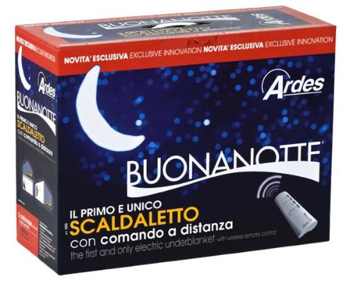 Ardes Medicura AR420 Termocoperta Scaldaletto Matrimoniale Buonanotte Radiocomandato A Distanza 100% Pura Lana