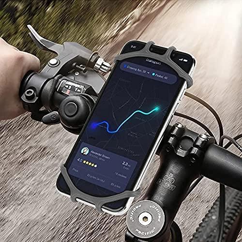 Soporte Movil Bici, 360° Rotación Soporte Movil Moto Bicicleta, Ajustable Universal Silicona Teléfono Manillar, Compatible para iPhone X/XR/XS MAX, para Samsung Galaxy, Xiaomi, Huawei.(4