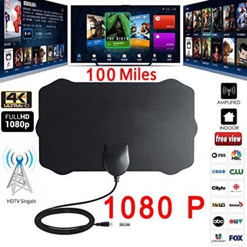 vpuquuz Antenas de TV Clave de TV Clave HDTV TV Gratis Antena Interior Digital Cable de Zanja Tal como se ve en la TV (Negro, OneSize)