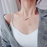 ShZyywrl Collar De Joyas Regalos para Aniversario Cumpleaños De La Madre Collar Sensación De Alto Nivel Collar Colgante De Perlas De R