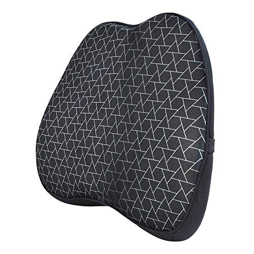 Amazon Basics - Cuscino lombare di supporto, in memory foam, motivo a triangoli