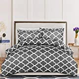 Utopia Bedding 3-Piece Duvet Cover Set – 1 Duvet Cover with 2 Pillow...