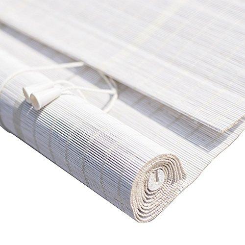 WENZHE Estores De Bambú Venecianas Persiana Enrollables Blanco Sombra Protector...