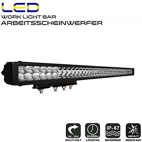 AFTERPARTZ D4 LED Arbeitsscheinwerfer Bar Neue Reflektor-Lichtschale OSRAM Chips 27250LM Combo Scheinwerfer Arbeitslicht (40