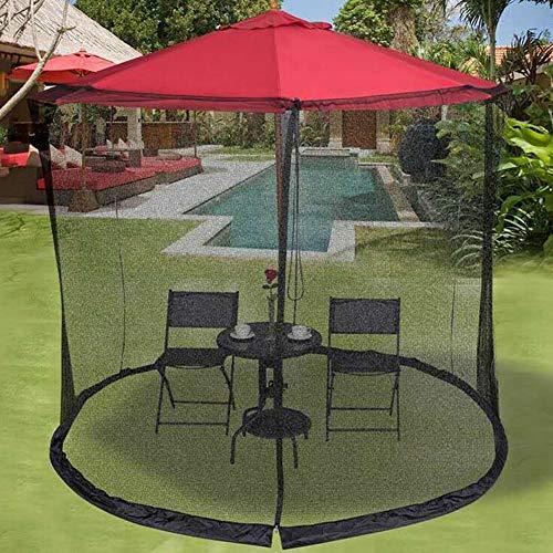 YONG Mosquitera de Malla para sombrilla de jardín al Aire Libre, Red de sombrilla de jardín, Mosquitera cilíndrica Parasol con Cremallera y lastre,Convierte tu sombrilla en un Carpa (10ft)