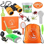 GTPHOM Outdoor Explorer Kit Gifts Toys - 20 Pieces Birthday Present for 3-10 Years Old Boys Girls Ad...