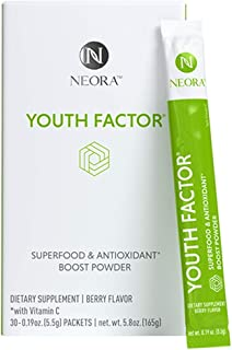 Nerium Youth Factor superfood and Antioxidant Boost Powder ,berry ,30 .19oz (5.5g) Packets