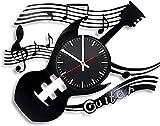 Guitarra Vinilo Reloj de Pared Instrumento Musical Disco de Vinilo Adornos de Arte Hechos a Mano Sala de Estar Cocina Retro Regalo Original