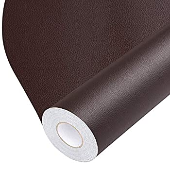 Leather Repair Tape Self-Adhesive Leather Repair Patch for Handbags,Furniture Drivers Seat Sofas Car Seats  Brown 17X79 inch
