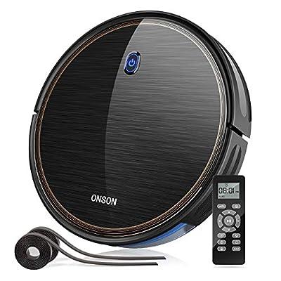 GOOVI Robot Vacuum, 1600Pa Wi-Fi Robotic Vacuum Cleaner (Slim) with Alexa, Quiet, Self-Charging Vacuum, for Pet Hair, Hard Floor, Medium