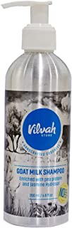 Vilvah Store Goatmilk Shampoo Enriched with Pea Protein and Jasmine Hydrosol for Dry and Frizzy Hair - 200ml