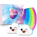 Rainbow Bath Bombs Gift Set for Valentine's Day, Ribivaul Handmade Bath Bombs with Natural Ingredients and Dreamy Rainbow,Bath Bomb with Rich Bubble, Great Gift for Birthday, Mother's Day
