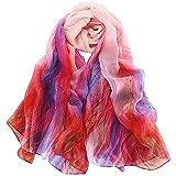 LD Pañuelos Seda Mujer Fular Antialérgico Estolas Regalo Exquisito para Protege el Cuello en Invierno 175 X 65cm (Rosa xwyj)