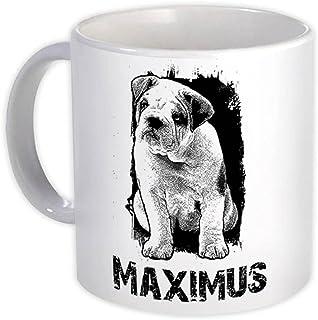 Spersonalizowany buldog : Prezent Kubek : Imi? Pies Pet Maximus Silne Zwierz?