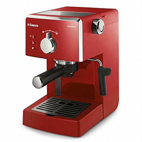 Philips HD8323/17 Saeco, Semi-Automatic Coffee Maker Espresso Machine Red Color 220V & Simple English User