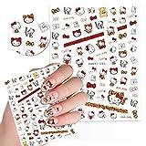 Cute Kawaii Cartoon Nail Stickers for Women, Girls, Gift (75+ Decals) (Design 7)