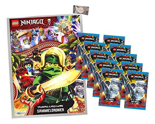 Lego Ninjago Karten Trading Cards Serie 6 - Die Insel (2021) - 1 Sammelmappe + 10 Booster + stickermarkt24de Gum