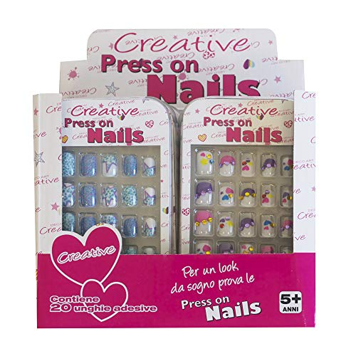 Nice Group PWS-19669 Creative Press ON Nails, Mehrfarbig