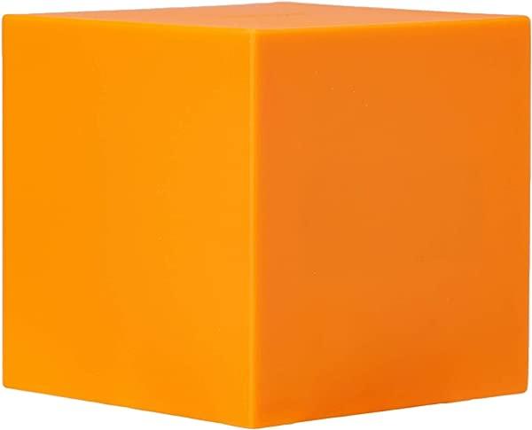 Gingko Gravity Cube Click Clock 3 X 3 Time Date Temp Orange Alarm Clock