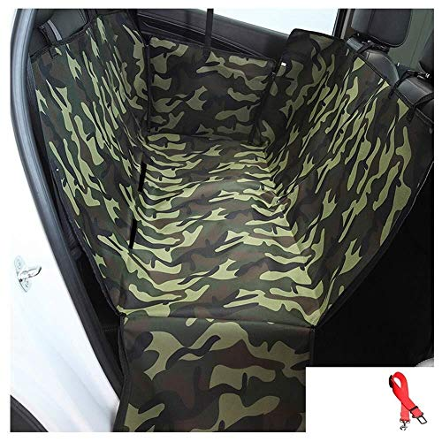 Jdk Pet Car Seat Cover Waterproof Dog Pad Thicken Protection Pad Back Row Seat Cover Anti-grab Split Design, 10 Colour Easy To Install, (Fit Most Car, Truck, Suv, Or Van) (Color : B)
