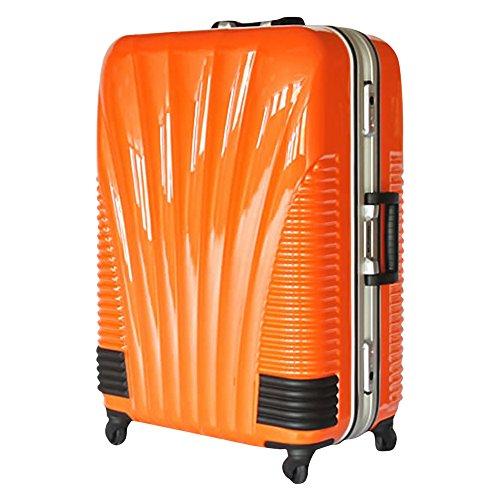 [BB-Monsters] ストッパー付スーツケース TSAロック搭載 フレームタイプ 旅行カバン 鳳凰 Lサイズ Mサイズ MSサイズ (24、中型、M, オレンジ)
