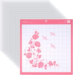 PP OPOUNT 10 Pieces Blank Stencil Sheets 12 x 12 inch Clear Template Sheets with Adhesive Cutting Mat for Making Stencils