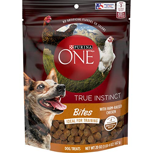Purina ONE Made in USA Facilities Dog Training Treats, True Instinct Bites with...