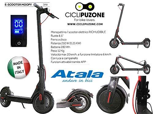 Cicli Puzone Monopattino Elettrico ATALA MOOPY Pieghevole E-Scooter FUNZIONI con App per Smartphone