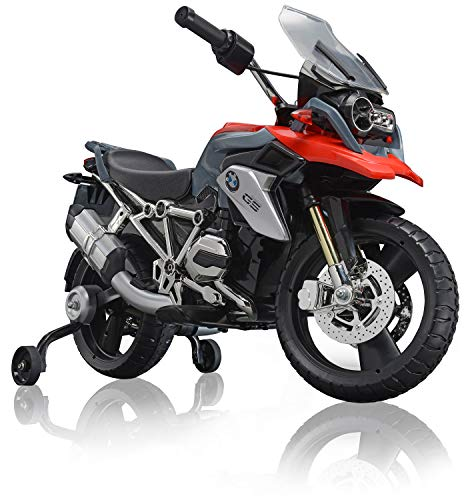 ROLLPLAY Moto eléctrica Premium, Para niños a partir de 3 años, Hasta 35 kg, Batería 12 V, Hasta 5 km/h, BMW 1200 Motorcycle, Rojo