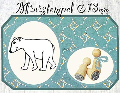 Zwergenstempel Eisbär, Ø13mm, fast 400 lustige Stempel-Motive im Shop