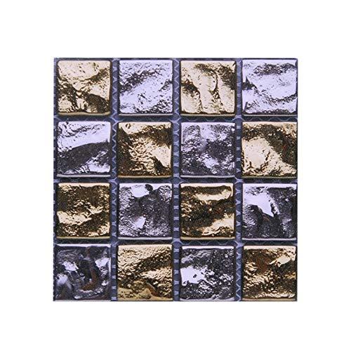 Yubingqin 10 unids Fuerte Autoadhesivo Mosaico azulejo Espalda Placa Pegatina de Pared 3D Impermeable Impermeable Vinilo Pared decalitación DIY habitación baño Cocina Cocina (Color : B07)