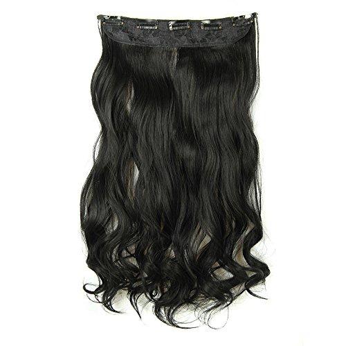 """24"""" Extension a Clip Cheveux Synthetique - Extensions Cheveux Clips - Clip in Hair Extensions Full Clip tete dans les extensions de cheveux boucles Wa"""