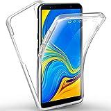 AROYI Coque Samsung A7 2018, Galaxy A7 2018 Transparent Housse Silicone TPU Gel et PC Rigide 360 Degres Protection Anti Choc Full...