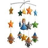 Regalo de Navidad Móvil musical hecho a mano Decoración colgante colorida Cuento de hadas