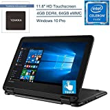 2020 Lenovo 300e Winbook 11 2-in-1 11.6' Touchscreen Laptop Computer, Intel Quad-Core Celeron N3450 up to 2.2GHz, 4GB DDR4 RAM, 64GB eMMC, 802.11ac WiFi, Window 10 Pro, YZAKKA Mouse Pad