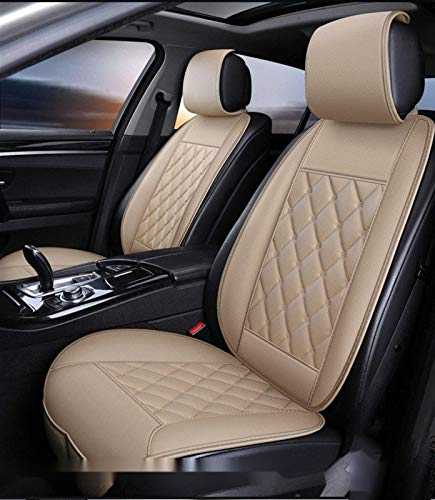 Four Seasons Car Seat Covers,Sleek Design with Storage Bag Used in Most Five-Seater and Seven-Seater Cars (Color : Beige, Size : 7 sit)