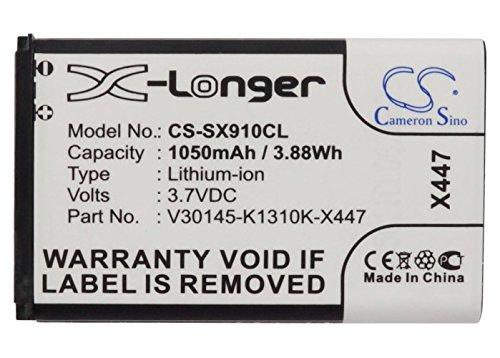 CS-SX910CL Akku 1050mAh Kompatibel mit [Siemens] Gigaset SL910, Gigaset SL910A, Gigaset SL910H Ersetzt V30145-K1310-X447, V30145-K1310K-X447, V30145-K1310K-X447-0-HY