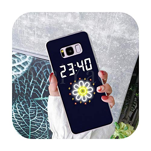 Phonecase Flower And Time Clock Art Funny Cartoon Phone Case Fashion For Samsung S9 S9 Plus S5 S6S6Edge S6Plus S7 S7Edge S8 S8Plus-8-For Galaxy S5