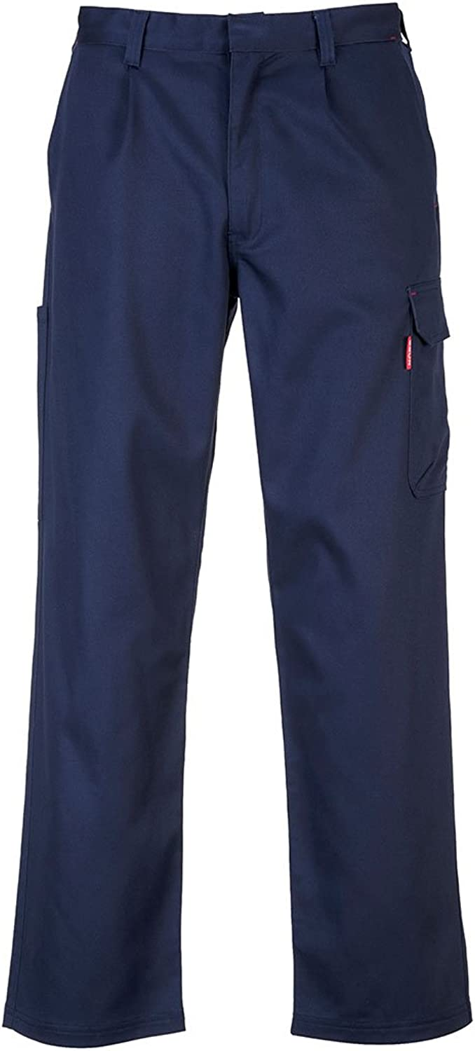 Portwest BZ31NARM Bizweld Flame Resistance for Life Cargo Pants, Medium, Navy