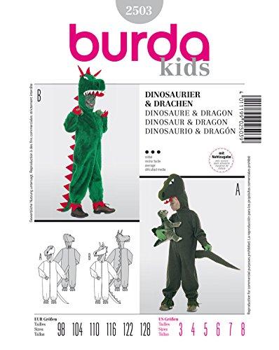 Burda Schnittmuster 2503 Dino & Drachen Gr. 98-128