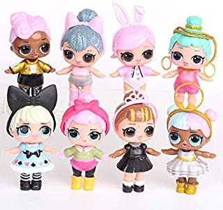 8pcs/Set LOL Dolls Baby bebek Action Figure Toys Small Princess wear Clothes Shoes Drink Water Kids Girl Brithday Gifts