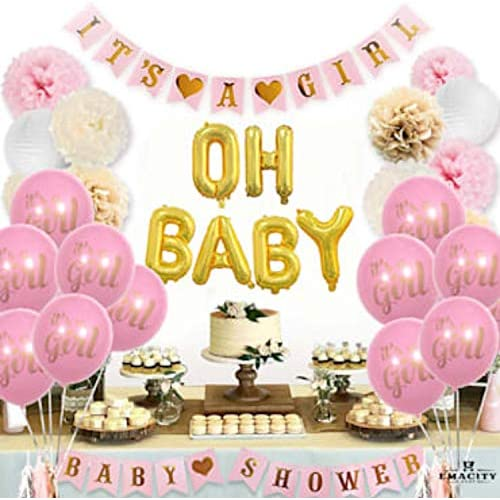 Pink And Gold Baby Shower Decor Amazon Com