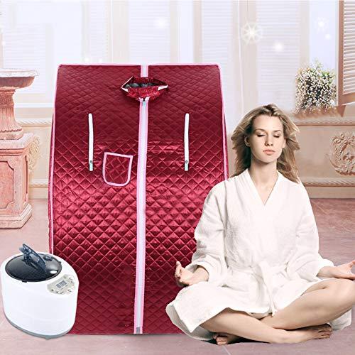 YJIIJY Mobile Sauna Box Portatile a Vapore SPA a Casa Famiglia Telecomando Dimagrante snellente Cerniera Bifacciale Impermeabile Resistente Al Calore e Durevole Adatto Per Perdita Articolari(rosso)