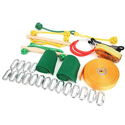 DAUERHAFT Kids Slackline Toy Slackline Kit Apariencia Simple Niños Slackline 3000 Kg Arm Trainer para Parques Infantiles para Fiestas al Aire Libre