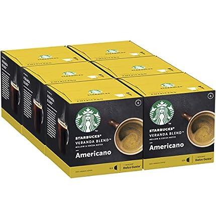 STARBUCKS Veranda Blend De Nescafe Dolce Gusto Cápsulas De Café De Tostado Suave 6 X Caja De 12Unidades