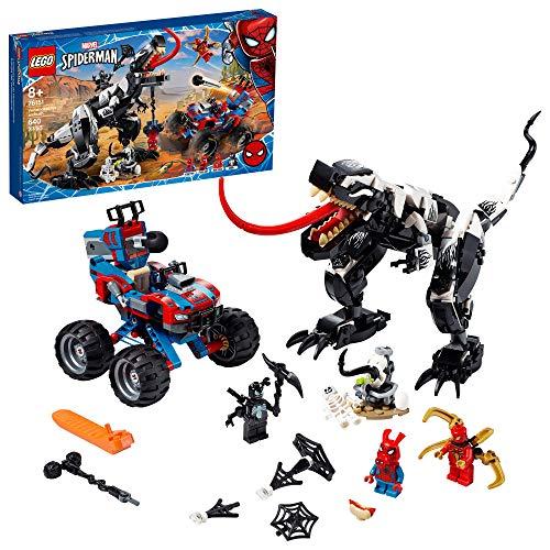 LEGO Marvel Spider-Man Venomosaurus Ambush 76151 Building Toy with Superhero Minifigures; Popular Holiday and Birthday Present for Kids who Love...