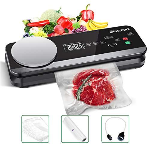 macchina sottovuoto x alimenti Macchina Sottovuoto per Alimenti Automatica Blusmart 80Kpa Macchina Sigillatrici con bilance da cucina integrate e display LCD