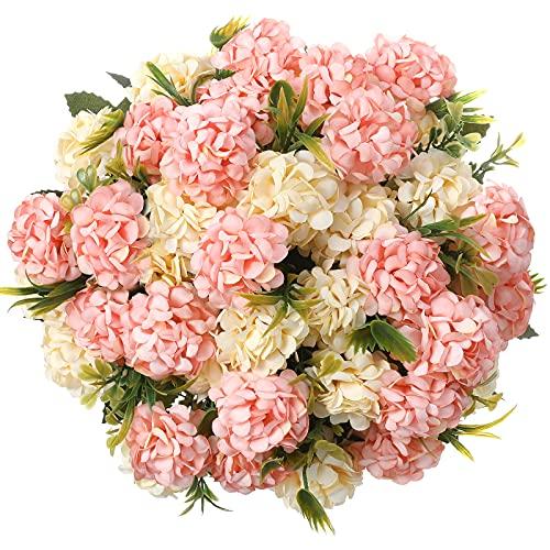 Fiori Artificiali,fiori finti per decorazioni bouquet fiori artificiali per balcone Tavolo Casa Matrimoni Ufficio (Rosa)