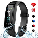 Mgaolo Fitness Tracker with Blood Pressure Heart Rate Sleep Monitor,IP68 Waterproof Activity Tracker Smart Watch with Pedometer Calorie Step Counter Compatible with iPhone and Android Fitbit Phones