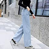 QMGLBG High Waist Women Jeans Pants Vintage Wide Leg Jeans Full-Length Loose Pants For Women Straight Trousers